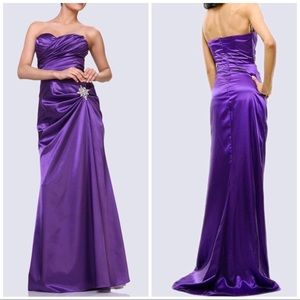 Sweetheart side ruched mermaid gown
